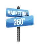 Marketing 360 sign. Illustration design over a white background Stock Photos