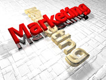 Marketing - 3D royalty free stock images