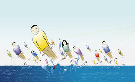 Marketing. Variety of people caught from the sea illustrating successful marketing Stock Images