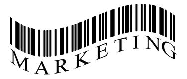 Marketing. Illustration detail of bar code with the word of marketing Royalty Free Stock Image