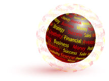 Marketing abstract globe Royalty Free Stock Photo