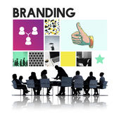 Marketing Achievement Branding Corporate Thumbs Up Concept stock image