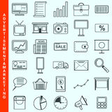 Marketing, advertisement, promotion vector icons Stock Photography