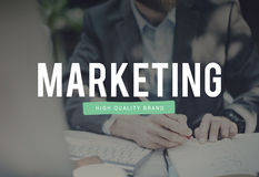 Marketing Analysis Branding Advertisement Business Concept.  Stock Photos