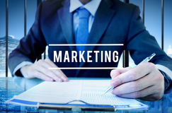 Marketing Analysis Branding Advertisement Business Concept.  royalty free stock photography