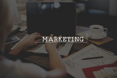 Marketing Analysis Branding Advertisement Business Concept.  stock images