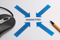 Marketing. As center for sucess Stock Image