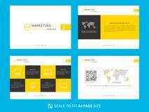 Marketing-Ausrüstungsdarstellungs-Vektorschablone Stockfotos