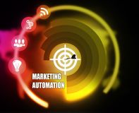 Marketing Automation concept plan graphic. 2018 Stock Photography