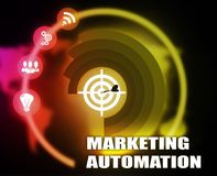 Marketing Automation concept plan graphic. Background Stock Images