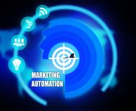 Marketing Automation concept plan graphic. 2018 Stock Images