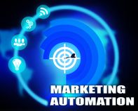 Marketing Automation concept plan graphic. 2018 Stock Photos
