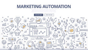 Free Marketing Automation Doodle Concept Royalty Free Stock Photos - 72548838
