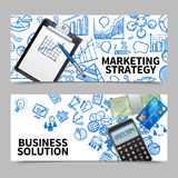 Marketing Banner Set Royalty Free Stock Images
