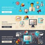Marketing Bannerreeks vector illustratie