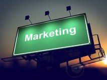 Marketing - Billboard on the Sunrise Background. Stock Images