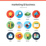 Marketing and bisiness icons Royalty Free Stock Photography
