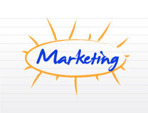 Marketing blank diagram illustration Royalty Free Stock Photo