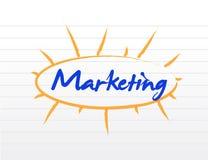 Marketing blank diagram illustration Royalty Free Stock Photo
