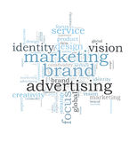 Marketing brand word cloud Stock Photography