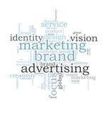 Marketing brand word cloud Stock Photography