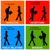 Marketing branding advertising Stock Images