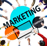 Marketing Branding Planning Advertisement Commercial Concept.  royalty free stock images