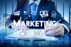 Marketing Business Advertising Commercial Branding Concept Royalty Free Stock Photos