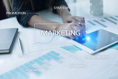 Marketing business concept on the virtual screen. Marketing business concept on the virtual screen Stock Image