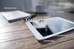 Marketing business concept on the virtual screen Stock Photo
