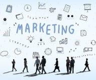 Marketing Business Corporation进展概念 免版税库存照片