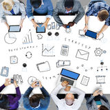 Marketing Business Corporation Progress Concept. People Discuss Marketing Business Corporation Progress Stock Image