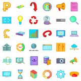 Marketing and business icons set, cartoon style. Marketing and business icons set. Cartoon style of 36 marketing and business vector icons for web  on white Royalty Free Stock Images