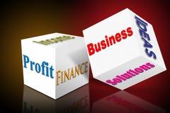 Marketing business sales cube Stock Photos