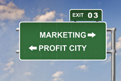 Marketing business sales sign Stock Images