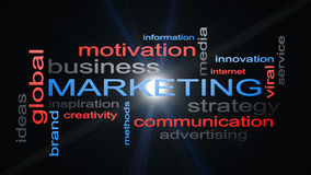 Marketing Business Strategy Word Cloud Text Concept Royalty Free Stock Photo