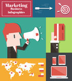 Marketing Business. Vector Infographic Elements Stock Photos