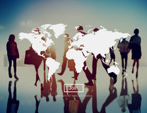 Marketing Business Worldwide Transportation Shipping Concept Stock Images