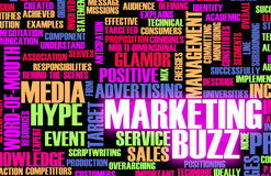 Marketing Buzz. And Building the Hype as Concept Royalty Free Stock Image