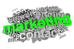 Marketing, buzzword, infographic Stock Image