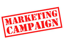 MARKETING CAMPAIGN. Red Rubber Stamp over a white background Stock Images