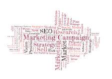 Marketing campaign word cloud Stock Image
