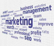 Marketing cloud Stock Photo