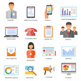 Marketing Colored Icons Royalty Free Stock Photography