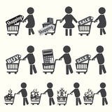 Marketing, commerce icon set Royalty Free Stock Image