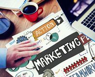 Marketing Commercial Advertising Plan Concept stock image