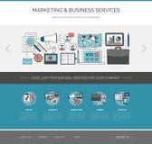 Marketing and communication web template Stock Photography
