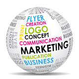 Marketing communication world royalty free illustration