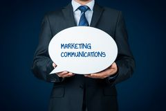 Marketing communications concept Royalty Free Stock Photography