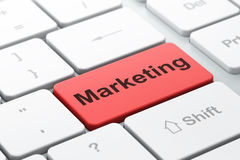 Marketing on computer keyboard background Royalty Free Stock Photography